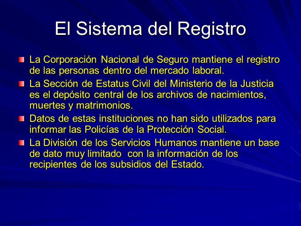 El Sistema del Registro La Corporación Nacional de Seguro mantiene el registro de las personas dentro del mercado laboral.