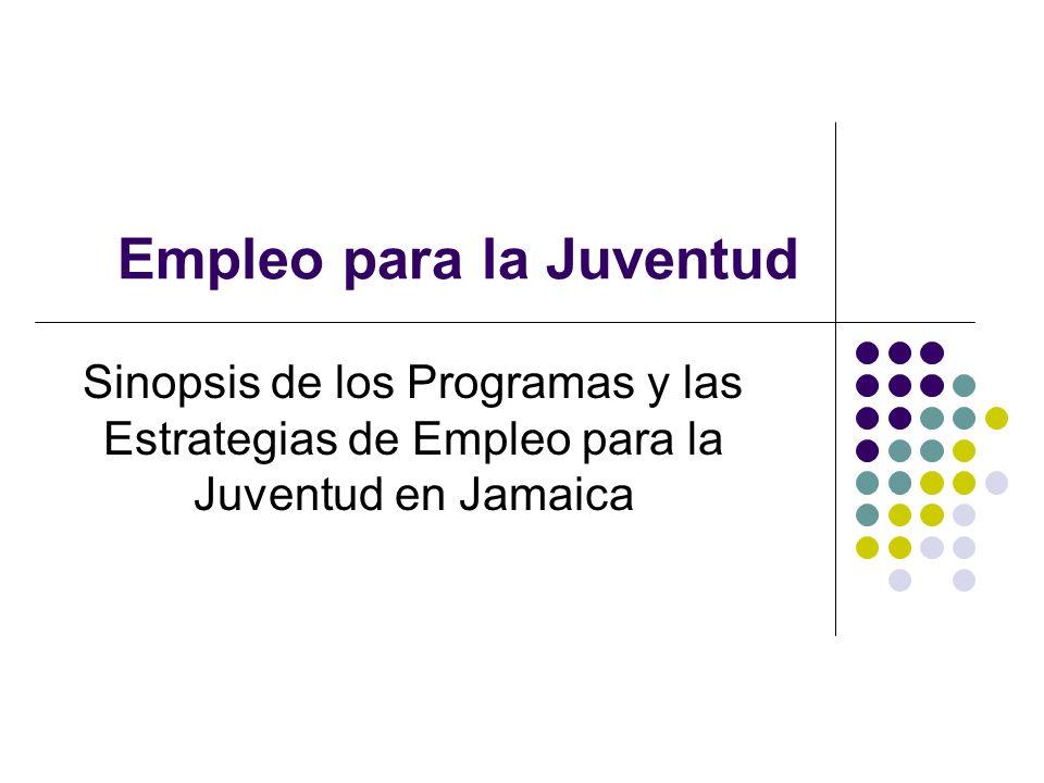 Empleo para la Juventud Sinopsis de los Programas y las Estrategias de Empleo para la Juventud en Jamaica
