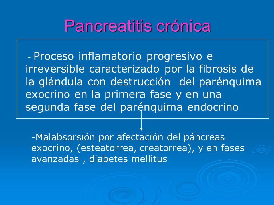 1.Clasificación: ( Marseille –Rome) 1.Pancreatitis Crónica calcificante 2.