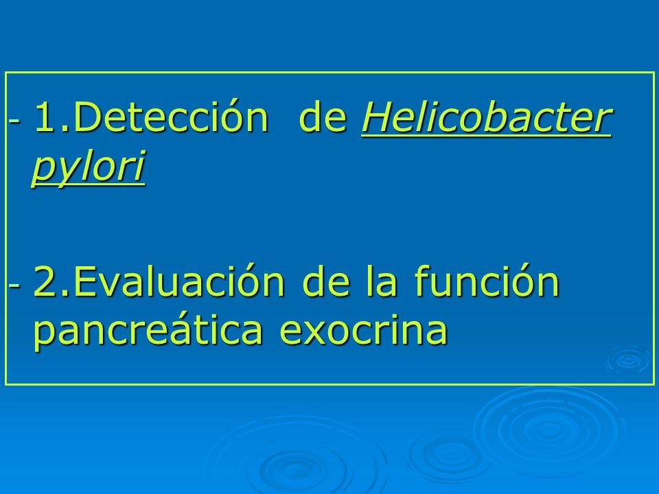 DETECCIÓN DE Helicobacter pylori 1.¿QUÉ ES.