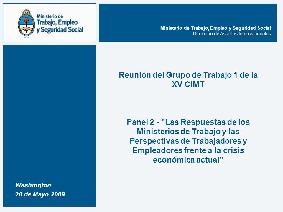 12 Dirección de Asuntos Internacionales, Ministerio de Trabajo, Empleo y Seguridad Social.