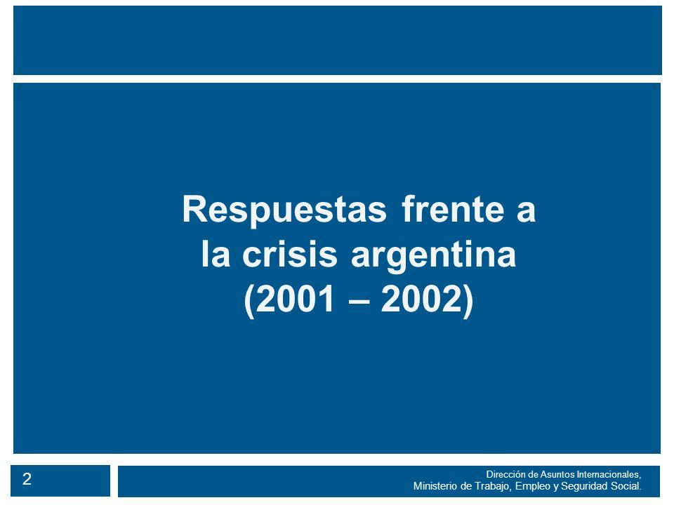 2 Dirección de Asuntos Internacionales, Ministerio de Trabajo, Empleo y Seguridad Social.