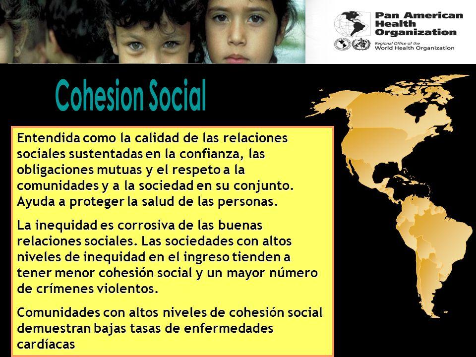 Entendida como la calidad de las relaciones sociales sustentadas en la confianza, las obligaciones mutuas y el respeto a la comunidades y a la socieda