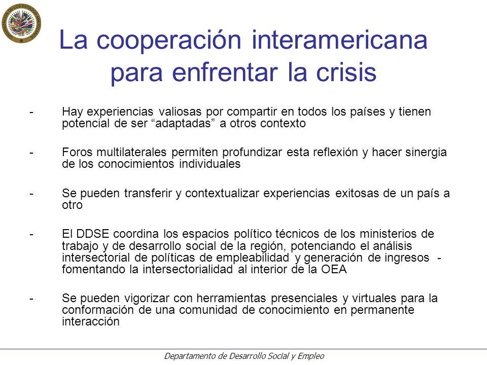 Departamento de Desarrollo Social y Empleo ¿Cómo asignar el gasto público en un contexto de crisis.