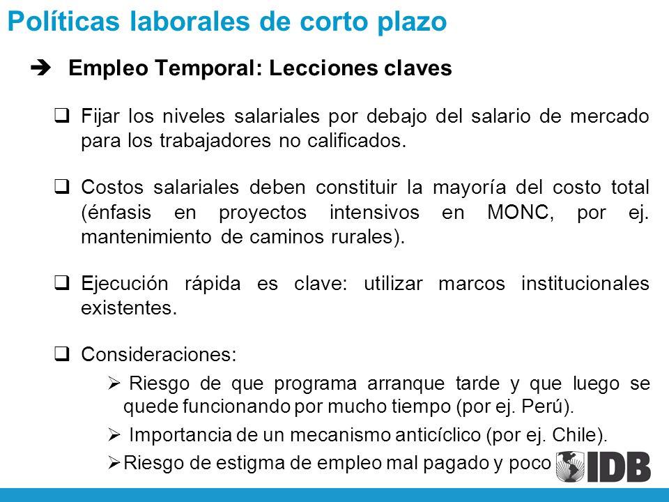 èEmpleo Temporal: Lecciones claves Fijar los niveles salariales por debajo del salario de mercado para los trabajadores no calificados.
