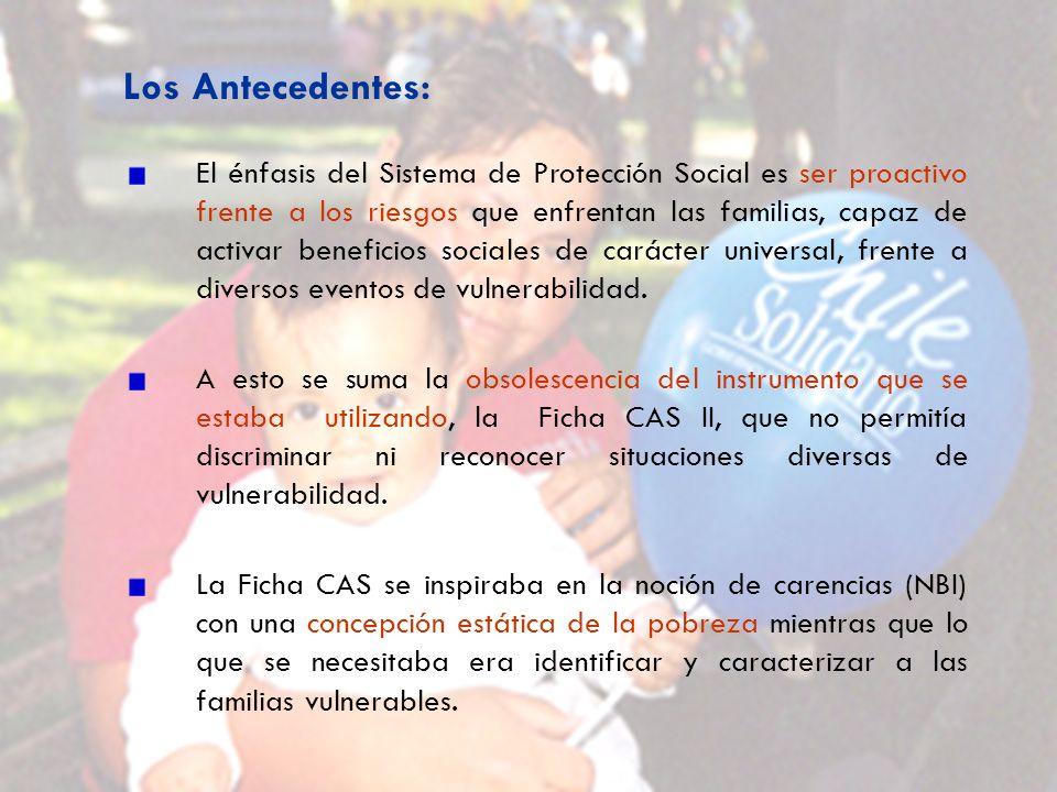 El énfasis del Sistema de Protección Social es ser proactivo frente a los riesgos que enfrentan las familias, capaz de activar beneficios sociales de carácter universal, frente a diversos eventos de vulnerabilidad.