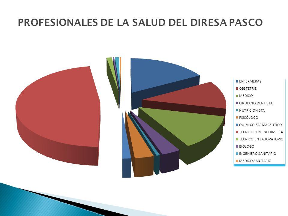 PROFESIONALES DE LA SALUD DEL DIRESA PASCO