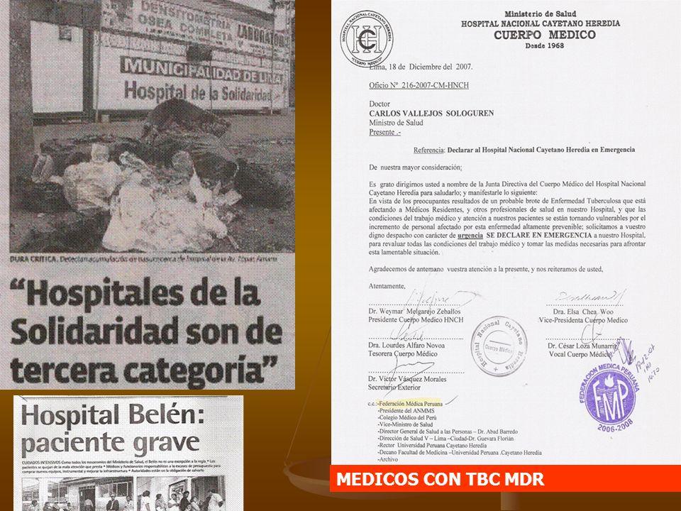 MEDICOS CON TBC MDR
