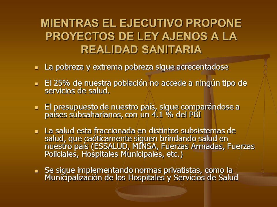 MIENTRAS EL EJECUTIVO PROPONE PROYECTOS DE LEY AJENOS A LA REALIDAD SANITARIA La pobreza y extrema pobreza sigue acrecentadose La pobreza y extrema po
