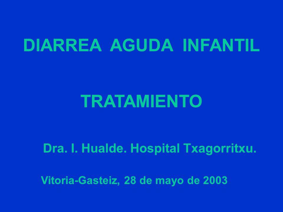 DIARREA AGUDA INFANTIL TRATAMIENTO Vitoria-Gasteiz, 28 de mayo de 2003 Dra. I. Hualde. Hospital Txagorritxu.