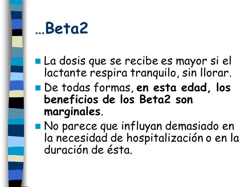 …Beta2 La dosis que se recibe es mayor si el lactante respira tranquilo, sin llorar.