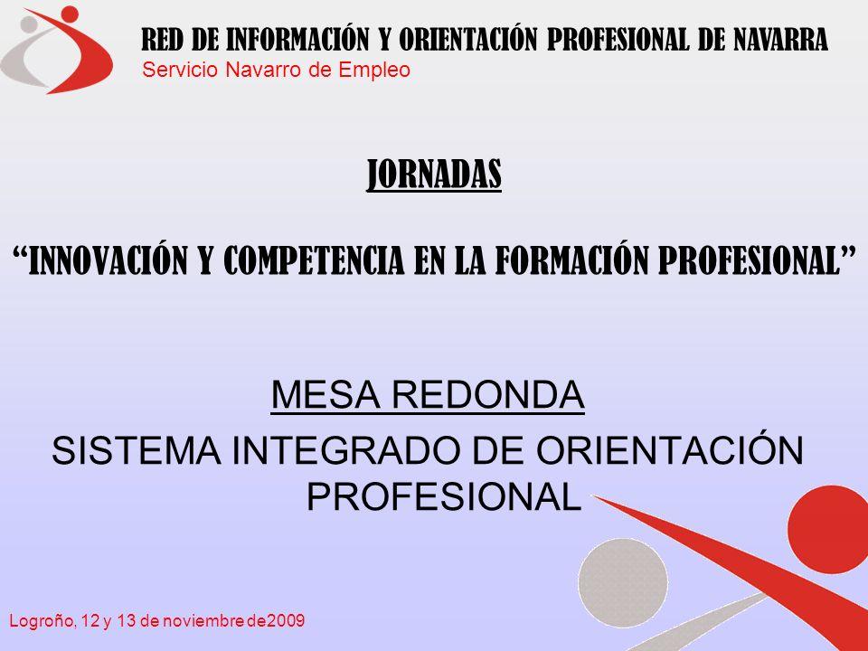 Servicio Navarro de Empleo RED DE INFORMACIÓN Y ORIENTACIÓN PROFESIONAL DE NAVARRA Logroño, 12 y 13 de noviembre de2009 Información y Orientación Profesional .