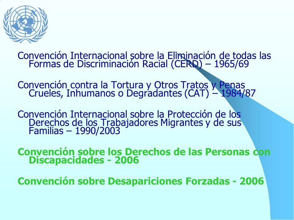 Los tratados internacionales... Carta Internacional de los Derechos Humanos (Declaración Universal – 1948 Pacto de Derechos Civiles y Políticos – 1966