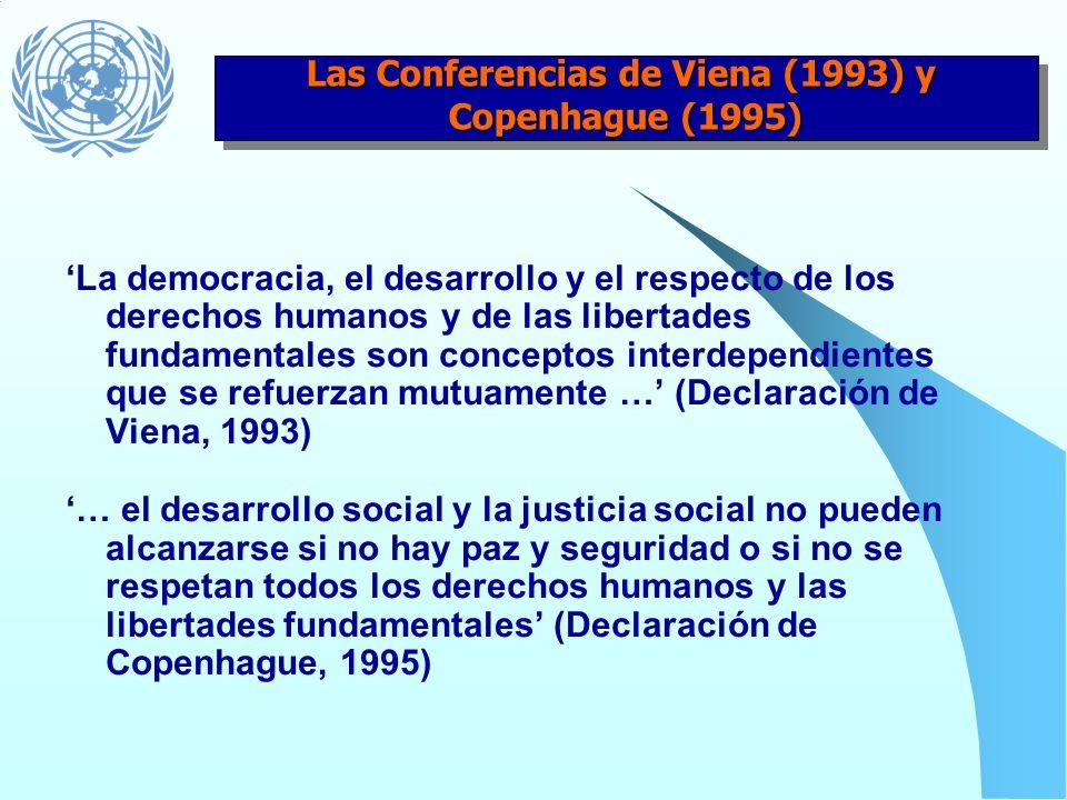 Llamado a todas las agencias del sistema para que: 1) en el marco de sus mandatos, basen sus programas y actividades en los derechos humanos 2) realic