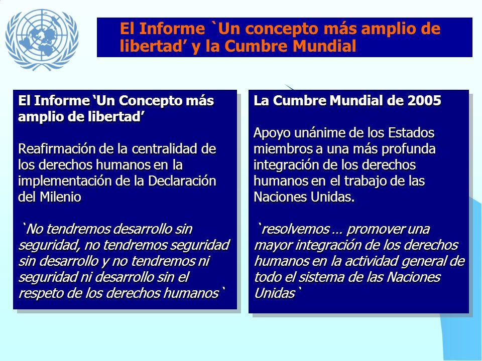 La democracia, el desarrollo y el respecto de los derechos humanos y de las libertades fundamentales son conceptos interdependientes que se refuerzan