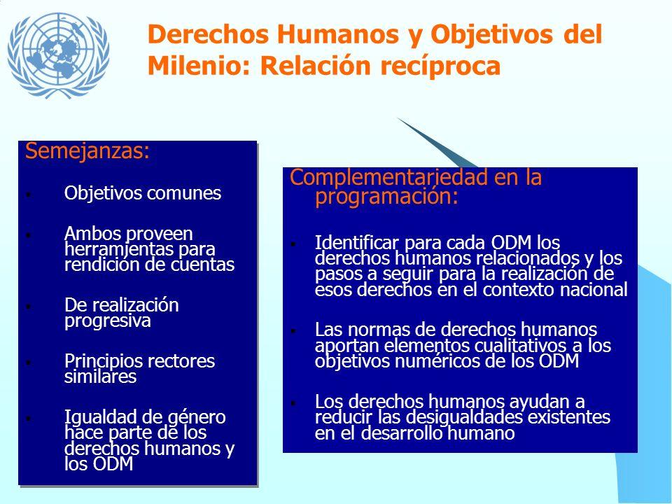 La Declaración del Milenio No escatimaremos esfuerzo alguno por promover la democracia y fortalecer el imperio del derecho y el respeto de todos los d