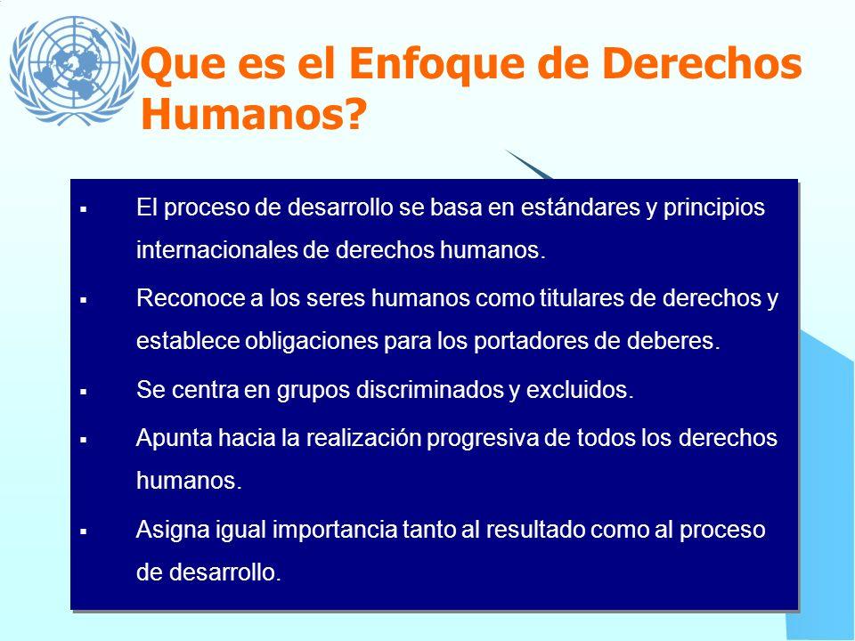 Guía para la aplicación del Enfoque de Derechos Humanos
