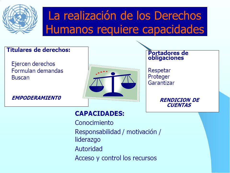 Qué brechas? El desarrollo de capacidades no es solo un proceso tecnocratico. También implica cambios políticos, sociales, legales e institucionales R