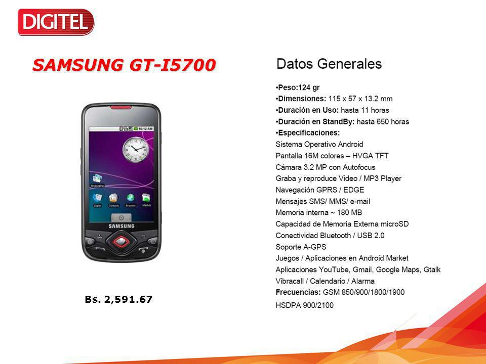 SAMSUNG GT-I5700 Bs. 2,591.67