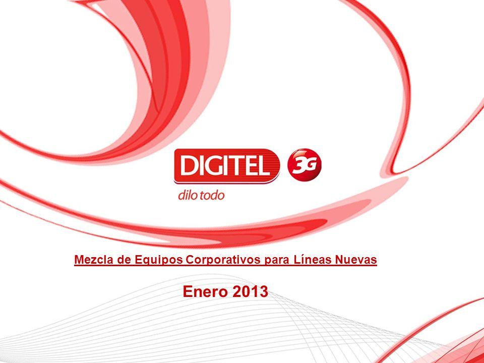 Mezcla de Equipos Corporativos para Líneas Nuevas Enero 2013