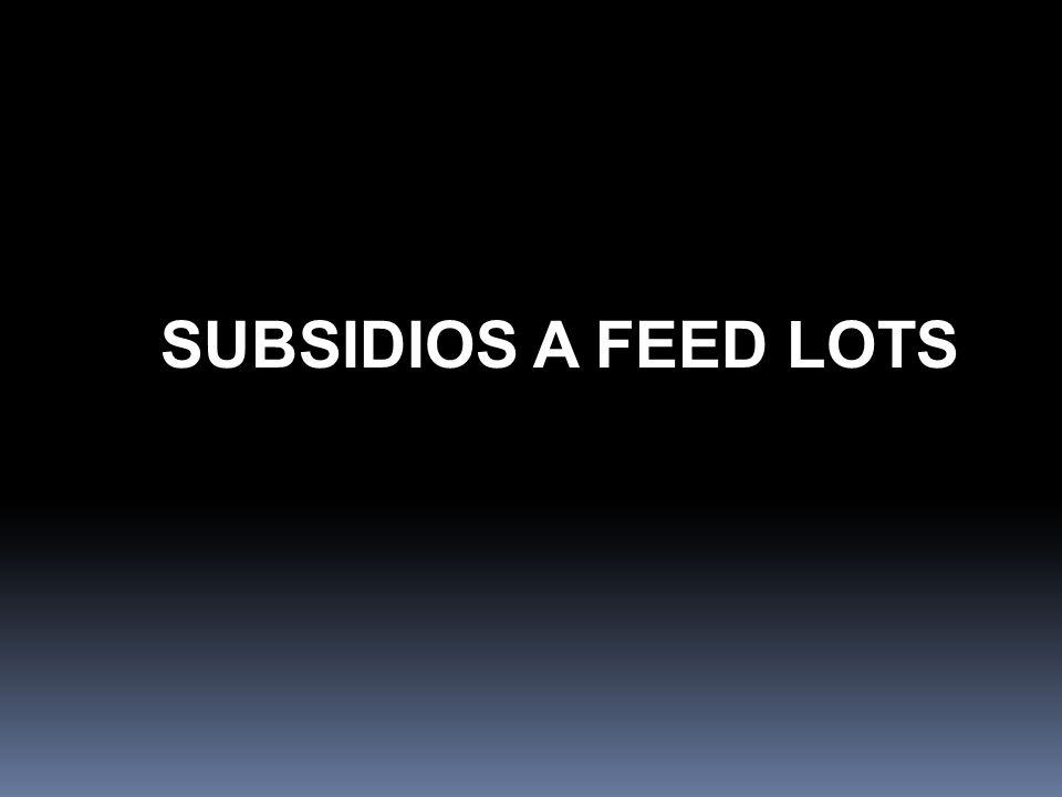 SUBSIDIOS A FEED LOTS