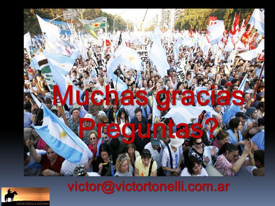 Muchas gracias Preguntas victor@victortonelli.com.ar