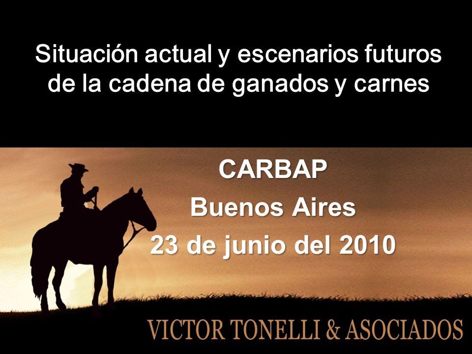 Situación actual y escenarios futuros de la cadena de ganados y carnes CARBAP Buenos Aires 23 de junio del 2010