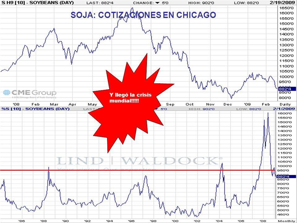 SOJA: COTIZACIONES EN CHICAGO Y llegó la crisis mundial!!!!!