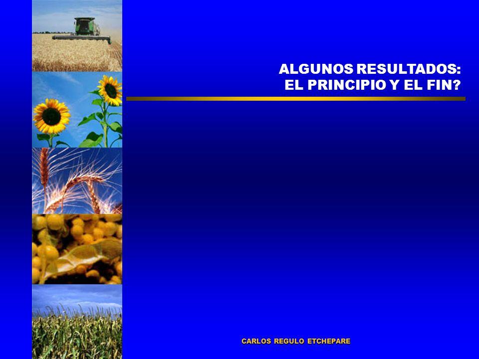 ALGUNOS RESULTADOS: EL PRINCIPIO Y EL FIN CARLOS REGULO ETCHEPARE