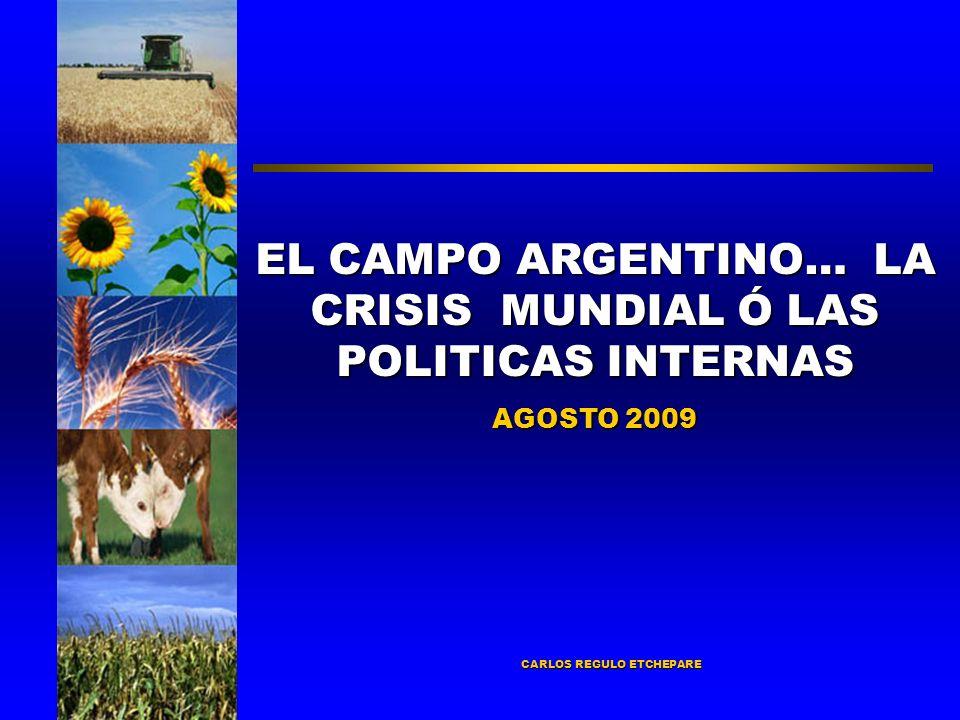 CARLOS REGULO ETCHEPARE EL CAMPO ARGENTINO… LA CRISIS MUNDIAL Ó LAS POLITICAS INTERNAS AGOSTO 2009