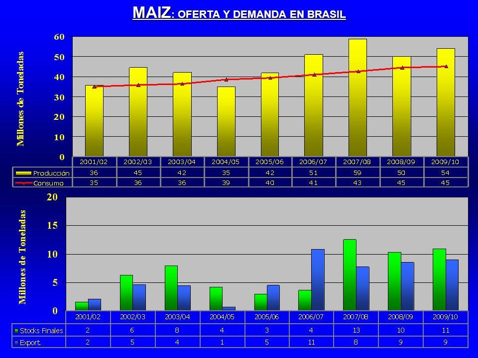 MAIZ : OFERTA Y DEMANDA EN BRASIL