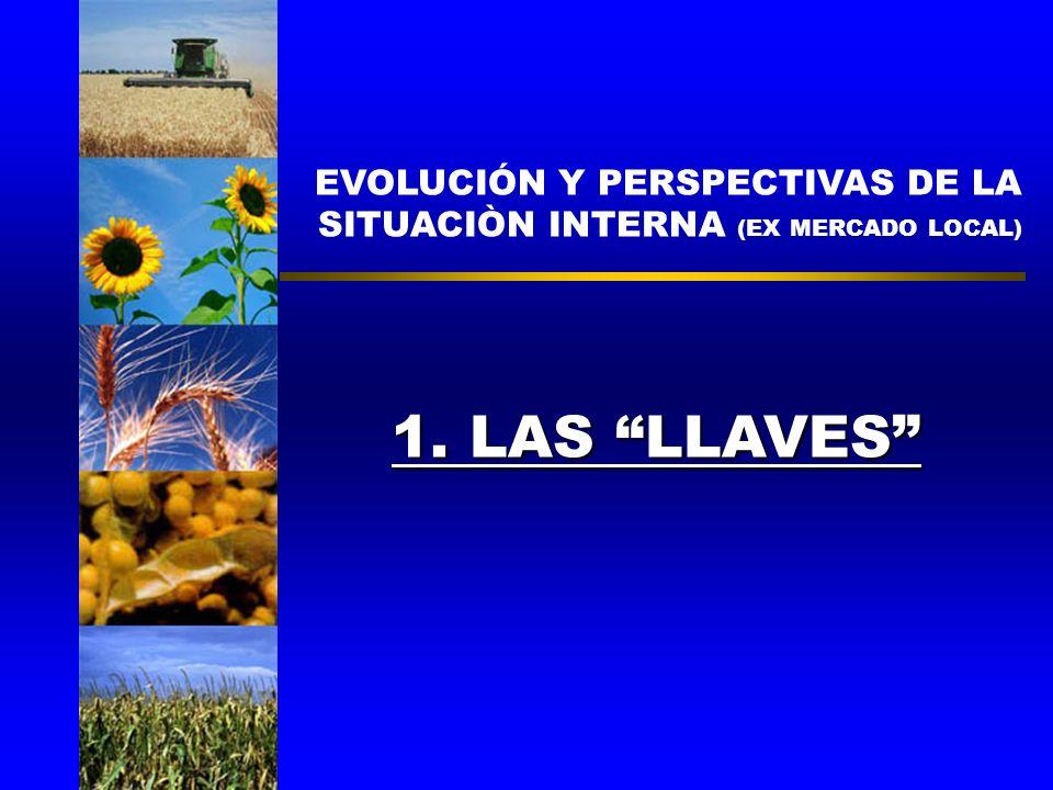 EVOLUCIÓN Y PERSPECTIVAS DE LA SITUACIÒN INTERNA (EX MERCADO LOCAL) 1. LAS LLAVES CARLOS REGULO ETCHEPARE