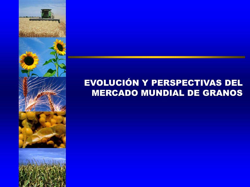 EVOLUCIÓN Y PERSPECTIVAS DEL MERCADO MUNDIAL DE GRANOS CARLOS REGULO ETCHEPARE