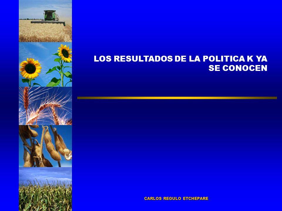 LOS RESULTADOS DE LA POLITICA K YA SE CONOCEN CARLOS REGULO ETCHEPARE