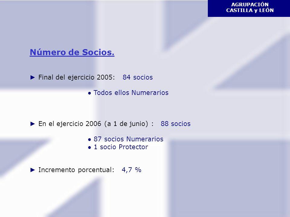 AGRUPACIÓN CASTILLA y LEÓN Número de Socios.