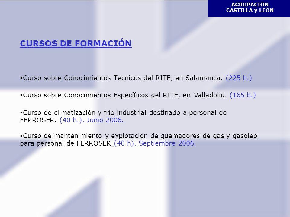 AGRUPACIÓN CASTILLA y LEÓN CURSOS DE FORMACIÓN.