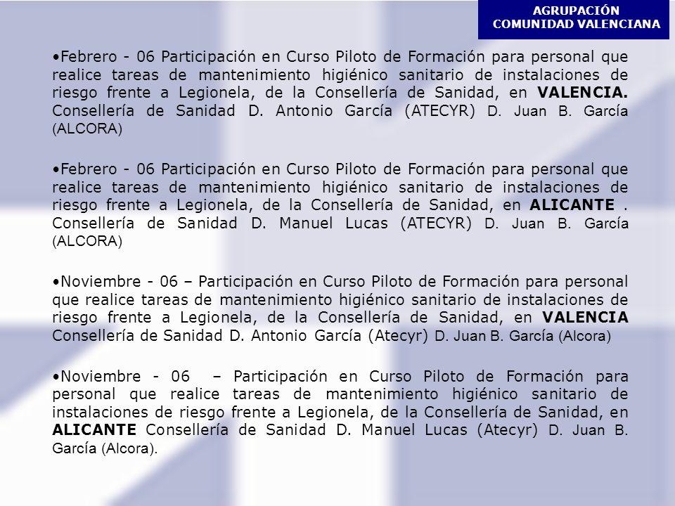 AGRUPACIÓN COMUNIDAD VALENCIANA JORNADAS TÉCNICAS 15.12.05 Valencia Claves para selección de Torres de Refrigeración en Sistemas de Aire Acondicionado Ponentes: D.