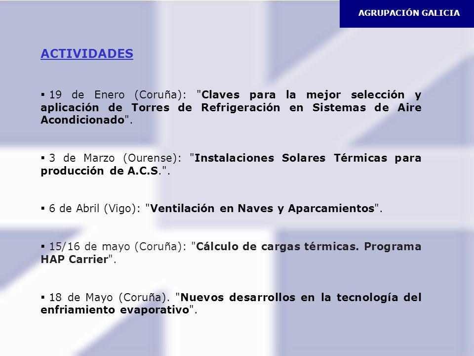 AGRUPACIÓN GALICIA ACTIVIDADES 19 de Enero (Coruña):