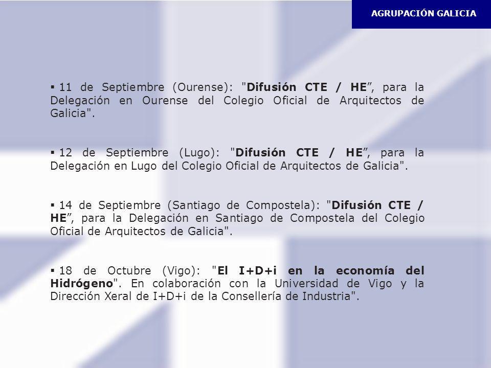AGRUPACIÓN GALICIA Previsto Una Jornada Técnica en Coruña (Noviembre).