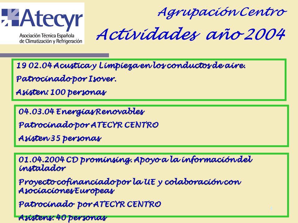 3 Socios Agrupación Centro Socios numerarios y estudiantes: Situación 04 total socios: 313 Altas 21 Bajas 9 Impagados 11 Situación 05: 325 socios Socios Protectores Situación 04 total socios: 34 Altas 3 Bajas 0 Impagados 5 Situación 05: 37 socios