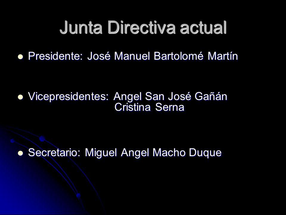 Junta Directiva actual Presidente: José Manuel Bartolomé Martín Presidente: José Manuel Bartolomé Martín Vicepresidentes: Angel San José Gañán Vicepre