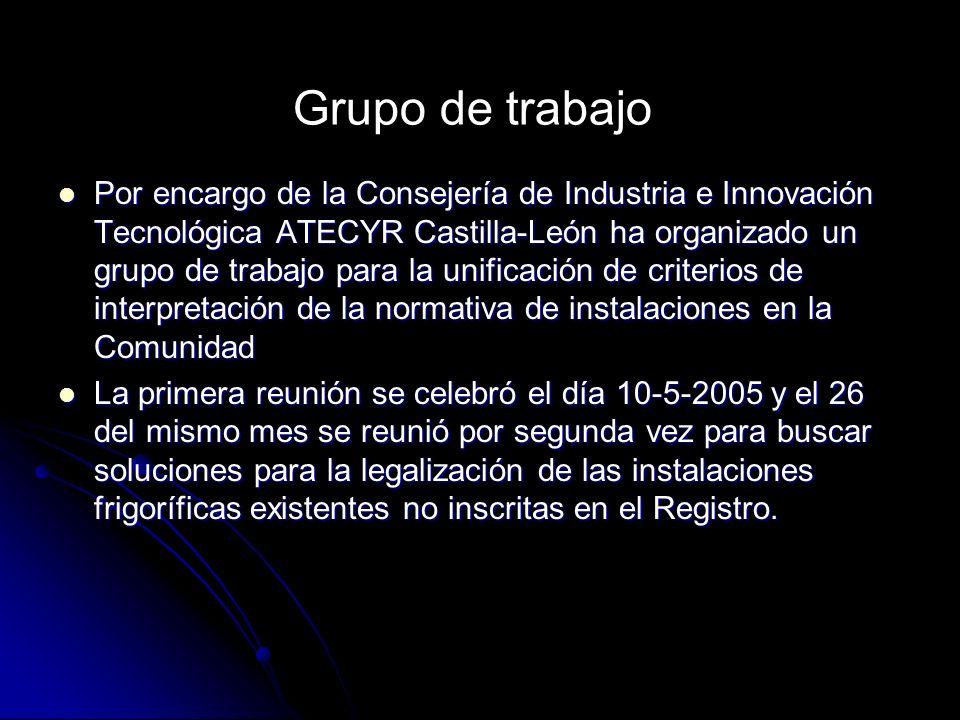 Por encargo de la Consejería de Industria e Innovación Tecnológica ATECYR Castilla-León ha organizado un grupo de trabajo para la unificación de crite