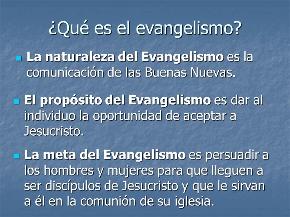 ¿Qué es el evangelismo? La naturaleza del Evangelismo es la comunicación de las Buenas Nuevas. La naturaleza del Evangelismo es la comunicación de las