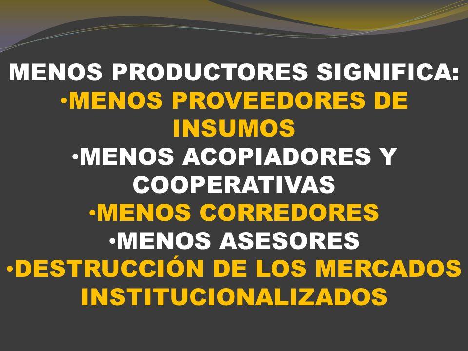 RELACIÓN ENTRE LA CANTIDAD DE EXPLOTACIONES AGROPECUARIAS Y EL TAMAÑO DE LAS MISMAS