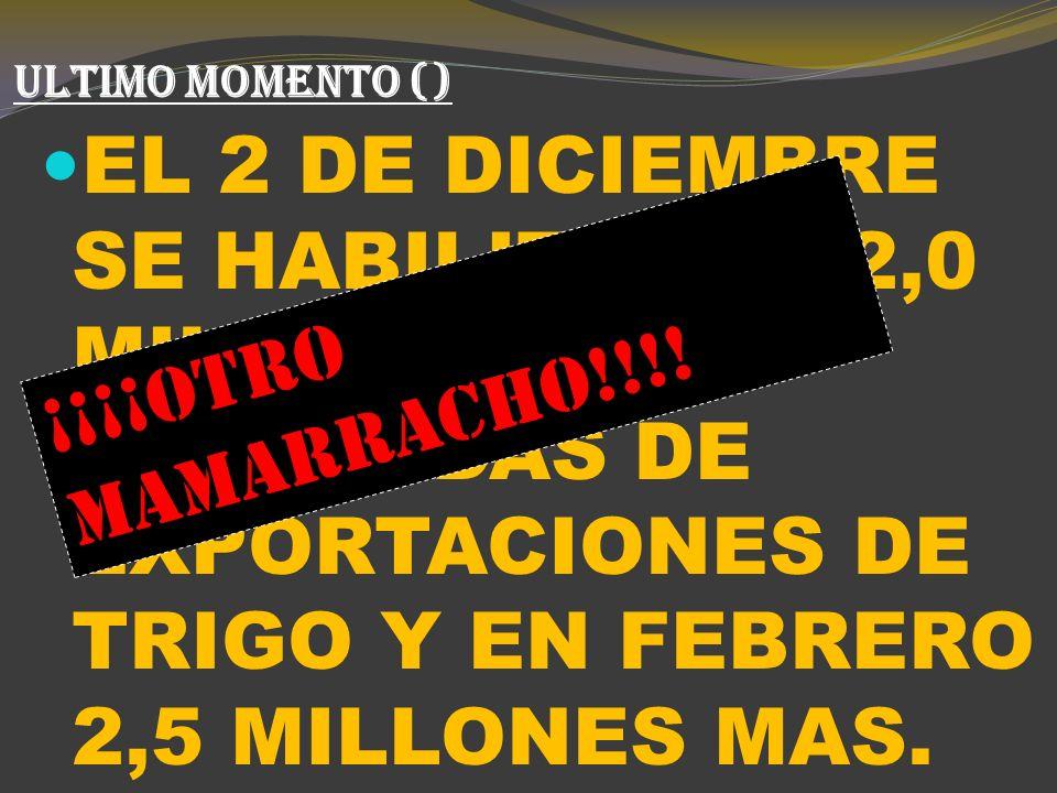 ANUNCIOS MÁS RELEVANTES DE LA POLÍTICA TRIGUERA K (6) NOVIEMBRE 2009: CFK PARTICIPA ALIM ENERO 2010: ACUERDOS CON LAS PROVINCIAS.