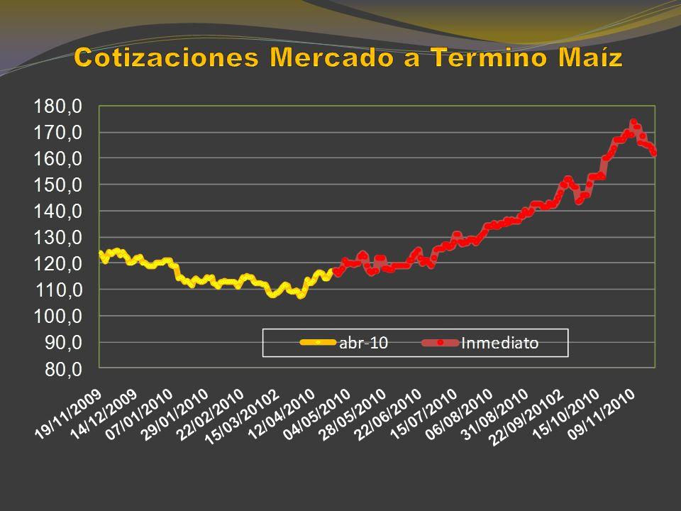 TRIGO Precios en el mercado mundial y en el local (Dólares/tn) -35%
