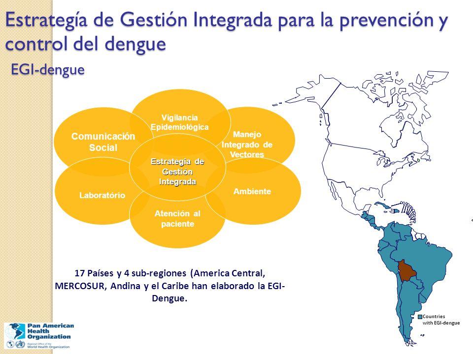 Estrategía de Gestión Integrada para la prevención y control del dengue EGI-dengue Manejo Integrado de Vectores Vigilancia Epidemiológica Comunicación