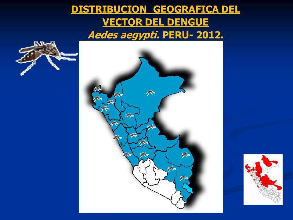DISTRIBUCION GEOGRAFICA DEL VECTOR DEL DENGUE Aedes aegypti. PERU- 2012.