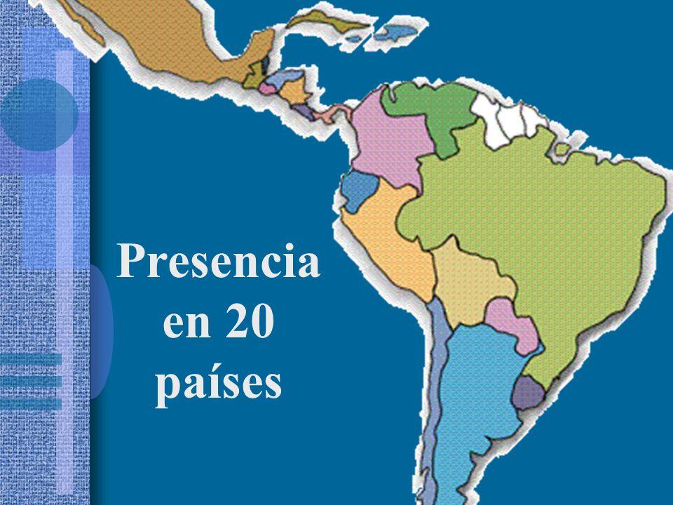Presencia en 20 países