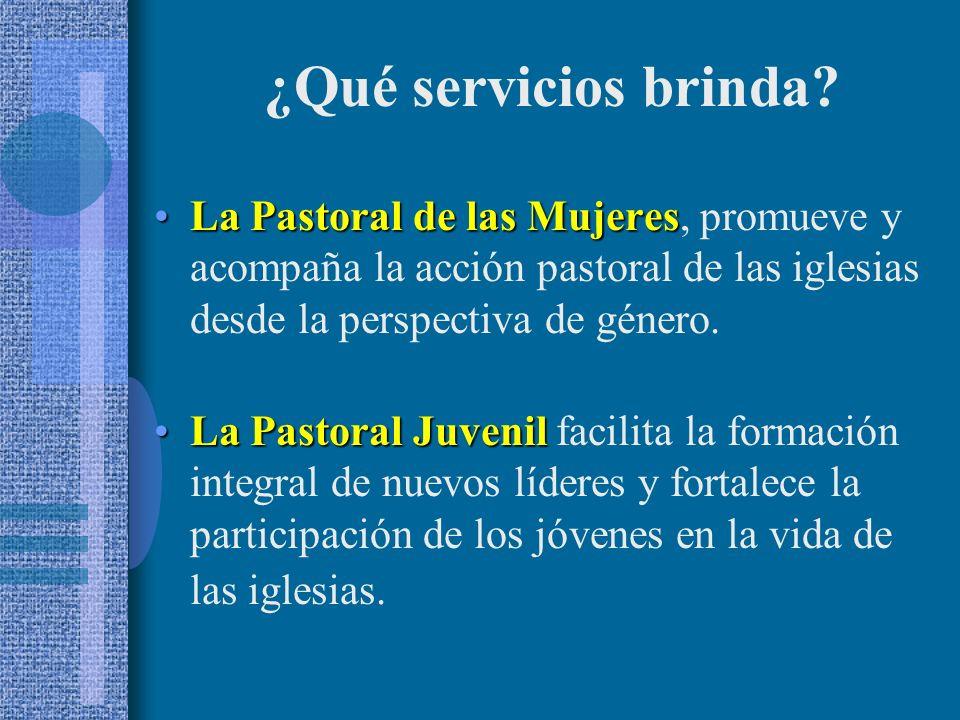 La Pastoral de las MujeresLa Pastoral de las Mujeres, promueve y acompaña la acción pastoral de las iglesias desde la perspectiva de género.